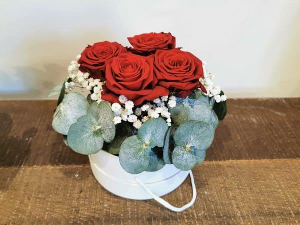 La boite de Roses rouge